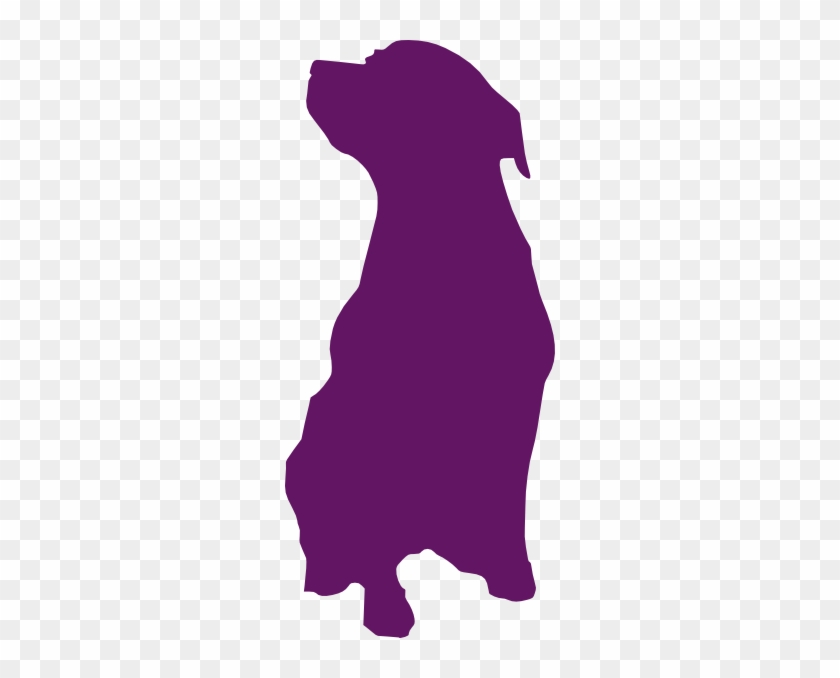 Purple Dog Clip Art At Clkercom Vector Online - Dog Sitting Silhouette Png #265767