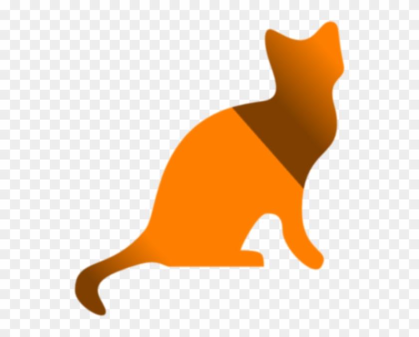 Gradient Yellow And Brown Cat Clip Art At Clkercom - Cat #265982