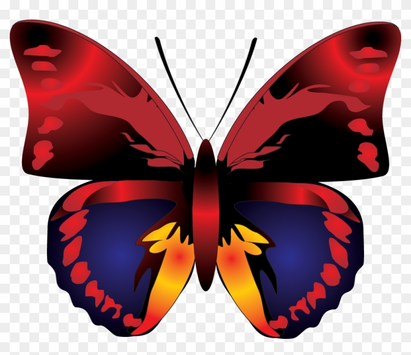 Butterfly Png Image - Red Butterfly Clip Art #266047