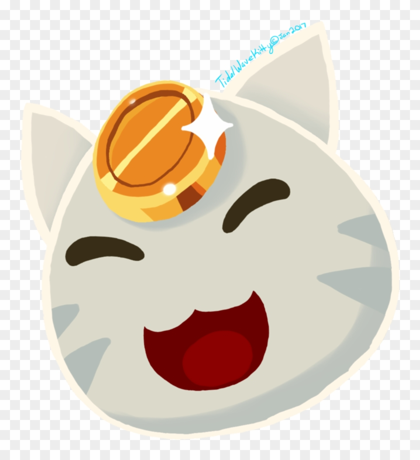 Lucky Cat Slime [merch Available] By Tidalwavekitty - Slime Rancher ...