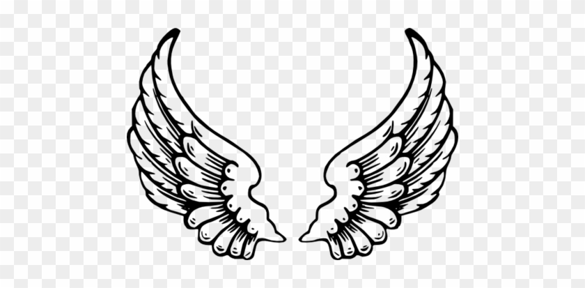 Angel Basic Shape Coloring Wings Clip Art At Vector - Angel Wings Cut Out #266310