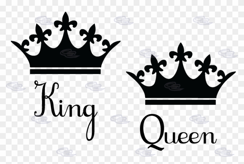 King And Queen Crown Clipart - King And Queen Crowns #266414