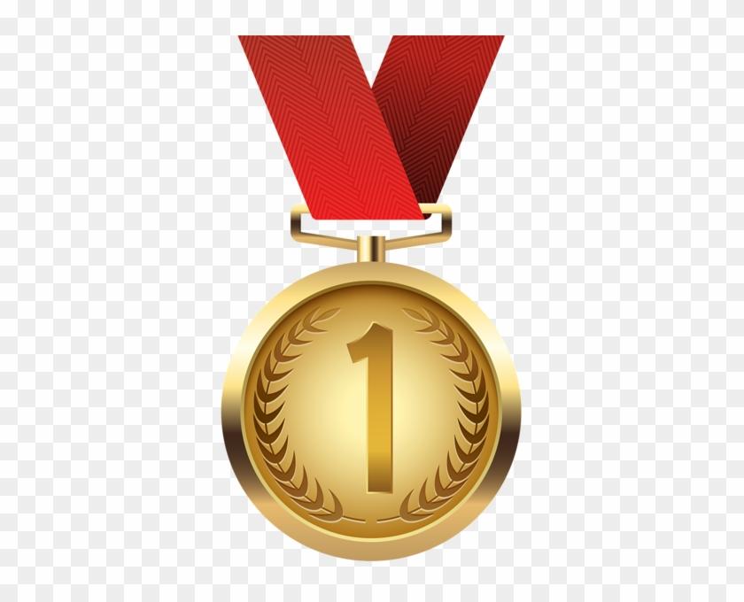 Gold Medal Png Clip Art - Clip Art Gold Medal #266657