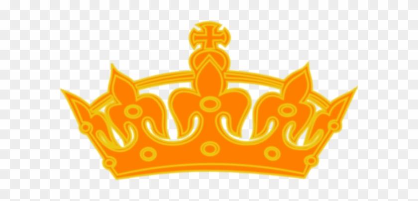 Orange Yellow Crown Clip Art At Clker - King Crown #266690