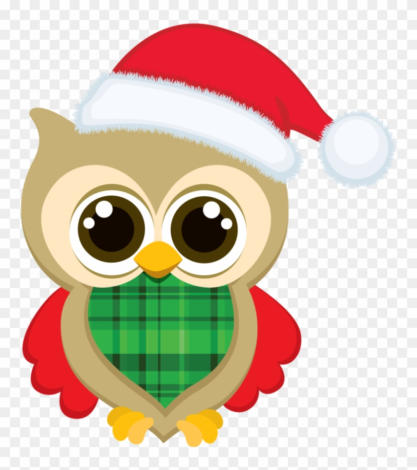Clipart Christmas Owls Christmas Owl Clip Art Bellas - Cute Owl Christmas Clip Art #266760