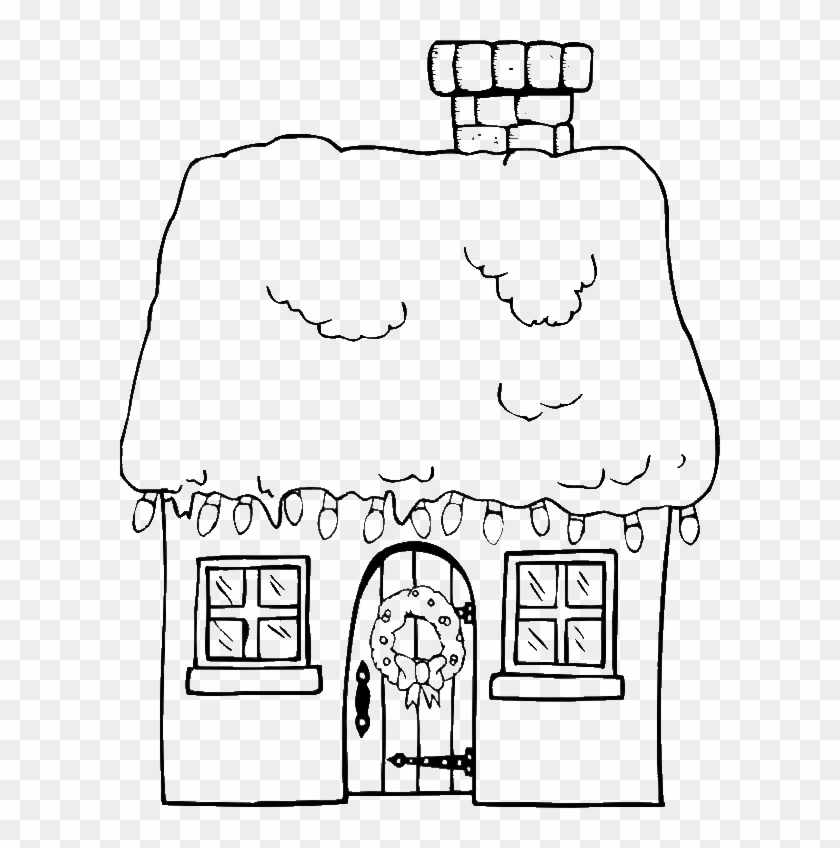 Christmas Gingerbread House Coloring Pages.Christmas Gingerbread House And A Bunch Of Lamp Coloring
