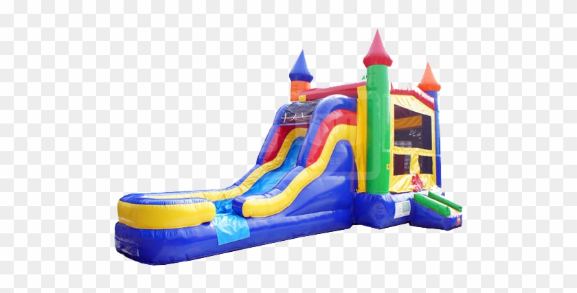 Castle Combo Waterslide - Bounce House Water Slide Combo #266988