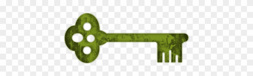 Fancy Skeleton Key Clip Art - Green Skeleton Key #267049