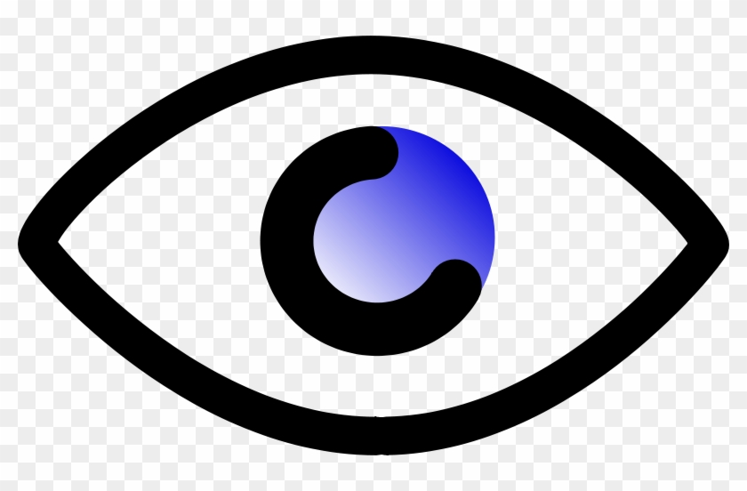 Similar Clip Art - Cartoon Outline Of Eye #267191