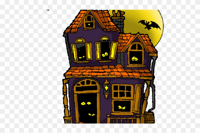 Haunted Houses Clipart - Haunted House Coloring Pages #267294