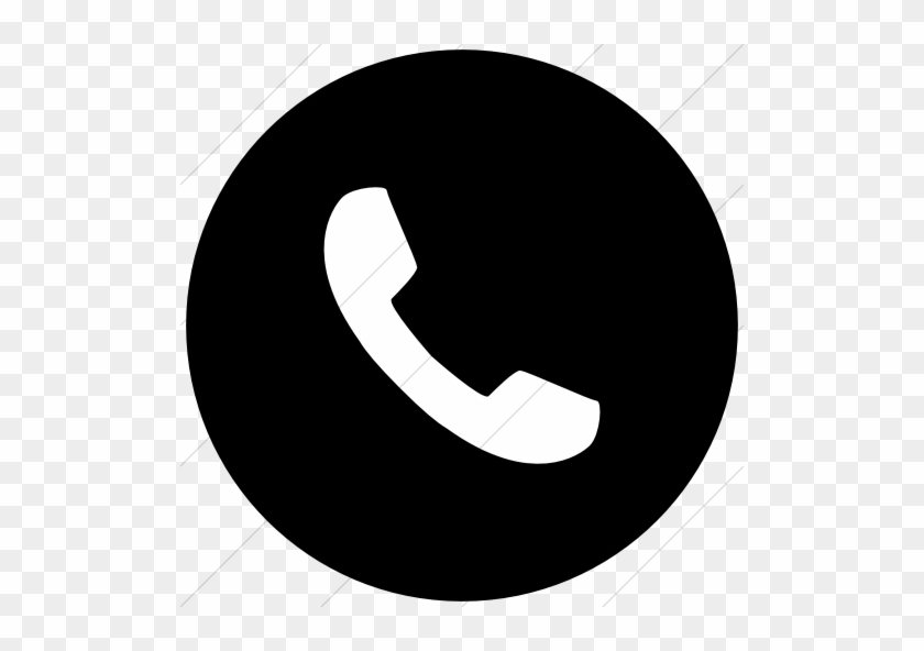 Phone Icon Black Circle