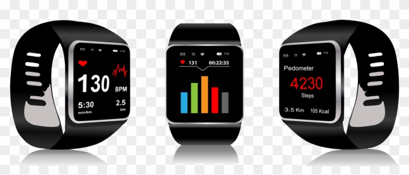 Apple Watch Series 2 Smartwatch Stock Illustration - Wearable Health Monitoring Devices #267762