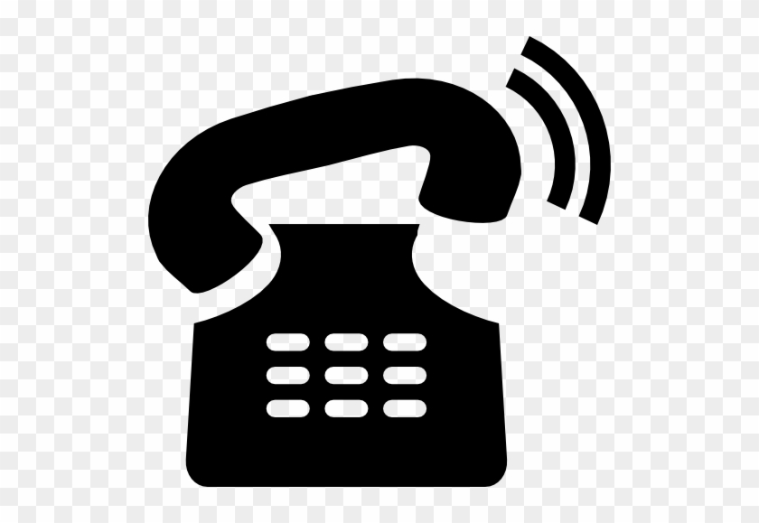 Old Telephone Ringing Vector - Telephone Silhouette Png