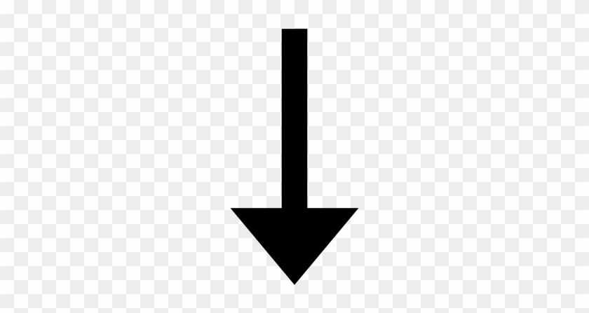 This Is Descending Icon - Small Black Arrow Down #1760234