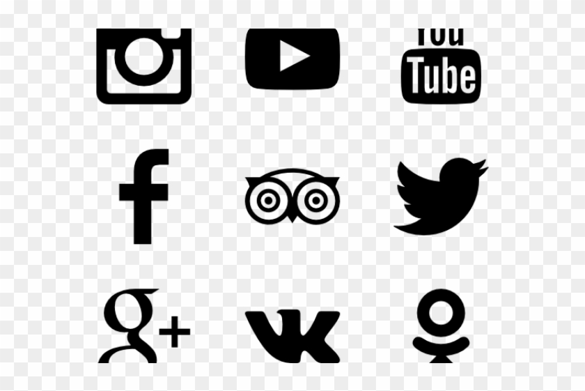 Social Media Icons Clipart Icon Pack - Facebook Instagram Twitter Logo Vector #1760646