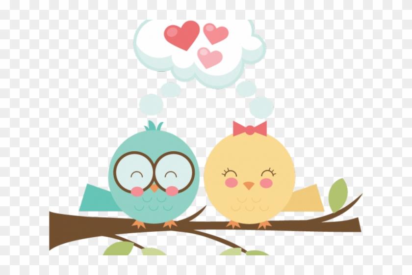 Lovebird Clipart Pretty Bird - Cute Love Birds Clipart #1761951