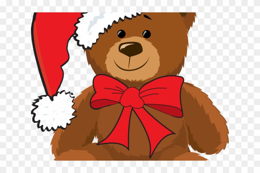 Christmas Clipart Toy - Christmas Teddy Bear Cartoon #1762450
