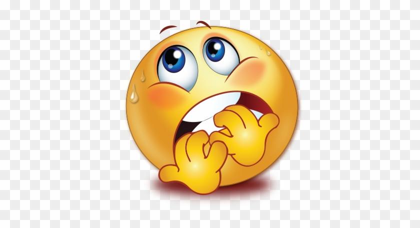 Sweating Frightened Scared Face Smiley Emoji Sticker