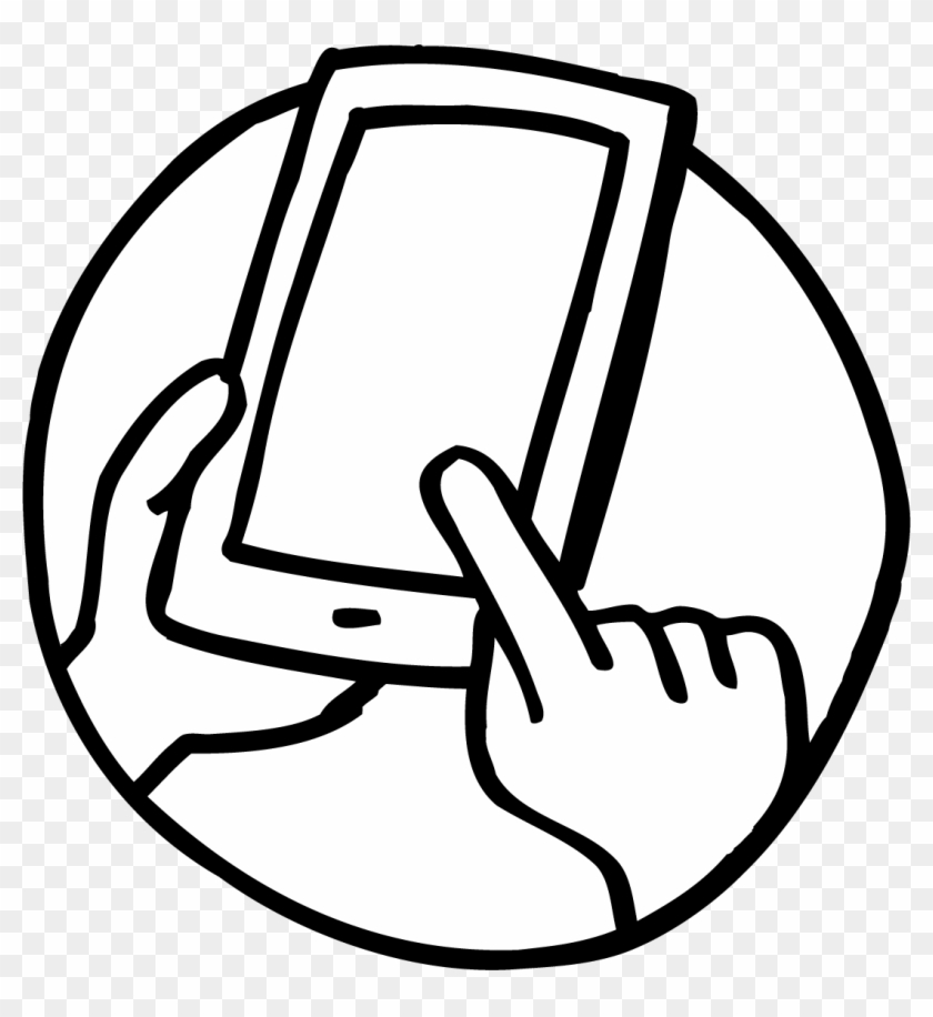 Cell Phone Black White Line Art - Phone Cell Phone Coloring Page #268004