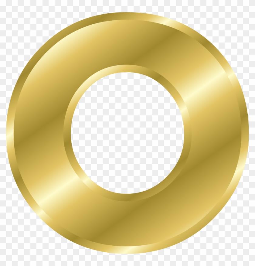 Clip Art Details - Letter O In Gold #268289