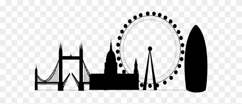 London Skyline Clipart Clip Art - Cursor Click Png #268312