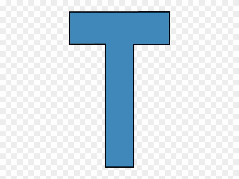 Blue Alphabet Letter T Clip Art - Big Capital Alphabet Letters T #268436