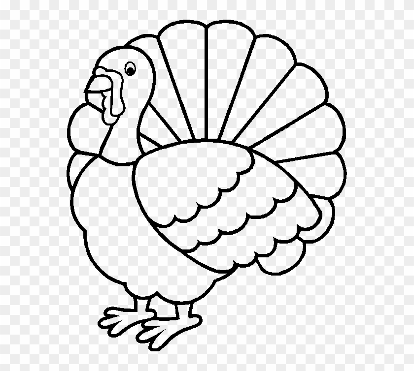 Thanksgiving Turkey Is Happy To Give A Beautiful Fur - Thanksgiving Turkey  Coloring Pages - Free Transparent PNG Clipart Images Download