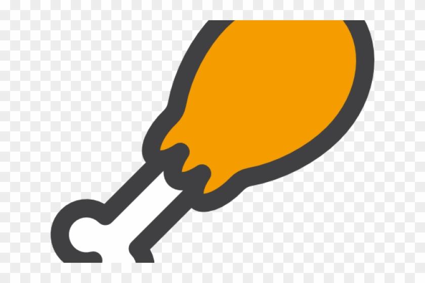 Chicken leg black icon on white background Vector Image