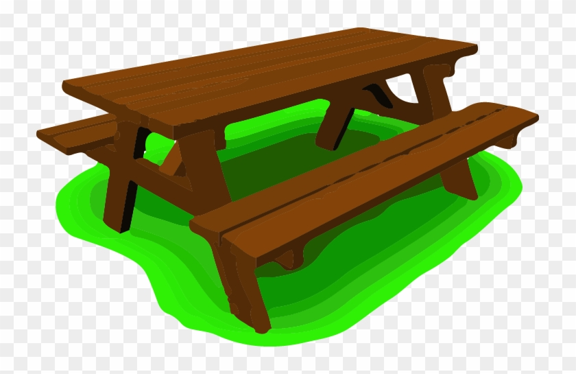 Picnic Area On Site - Picnic Table Top Clip Art #269061