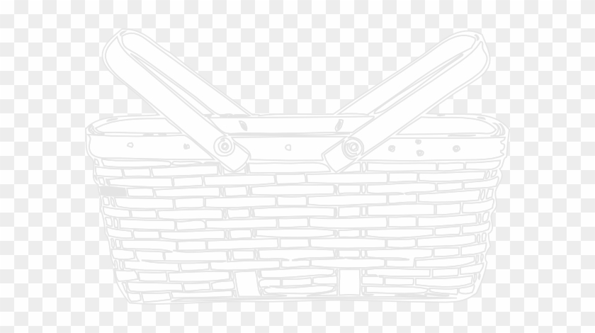 Picnic Basket Outline - White Picnic Basket Png #269075