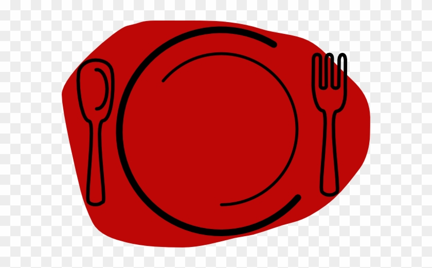 Plate Clipart Small - Spoon And Fork #269135