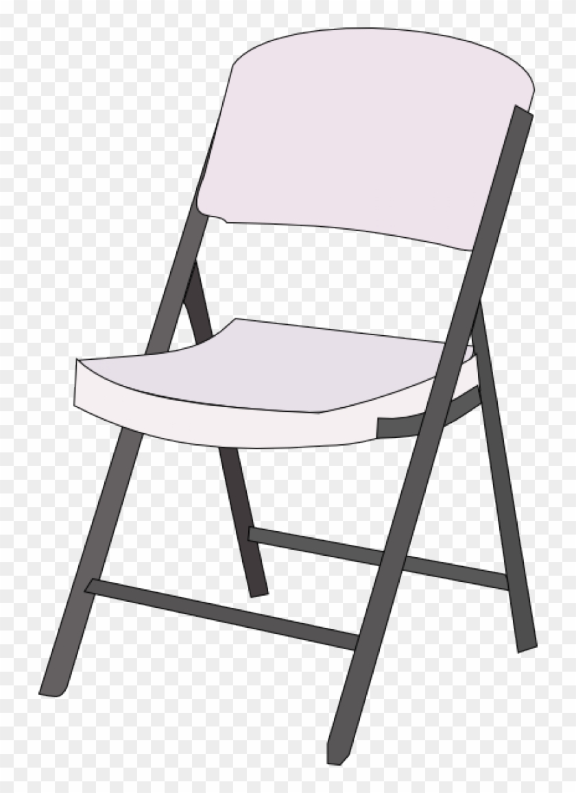 Chair Clip Art Black And White - White Folding Chairs #269146