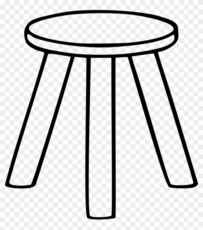 Large Size Of Chair - Three Legged Stool Clipart #269282