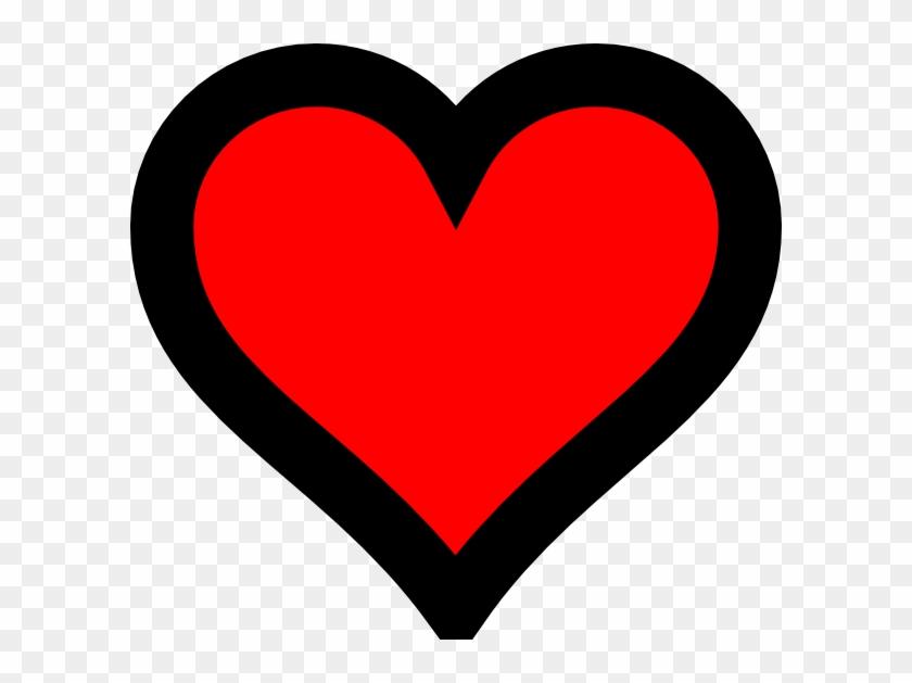 Heart Outline Png Clip Art - Red Heart Black Outline #269473