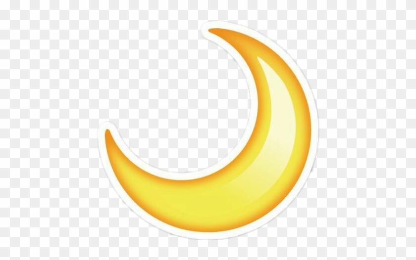 Emoji Stickers Tumblr Cute Moon Yellow Half Moon Emoji Png