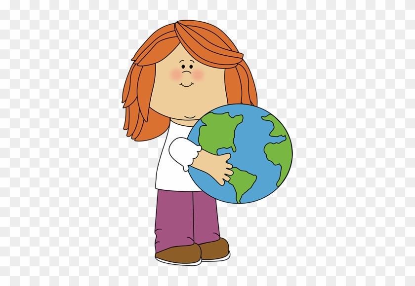 Earth Border Clip Art - Girl Playing With Doll Clipart #269805