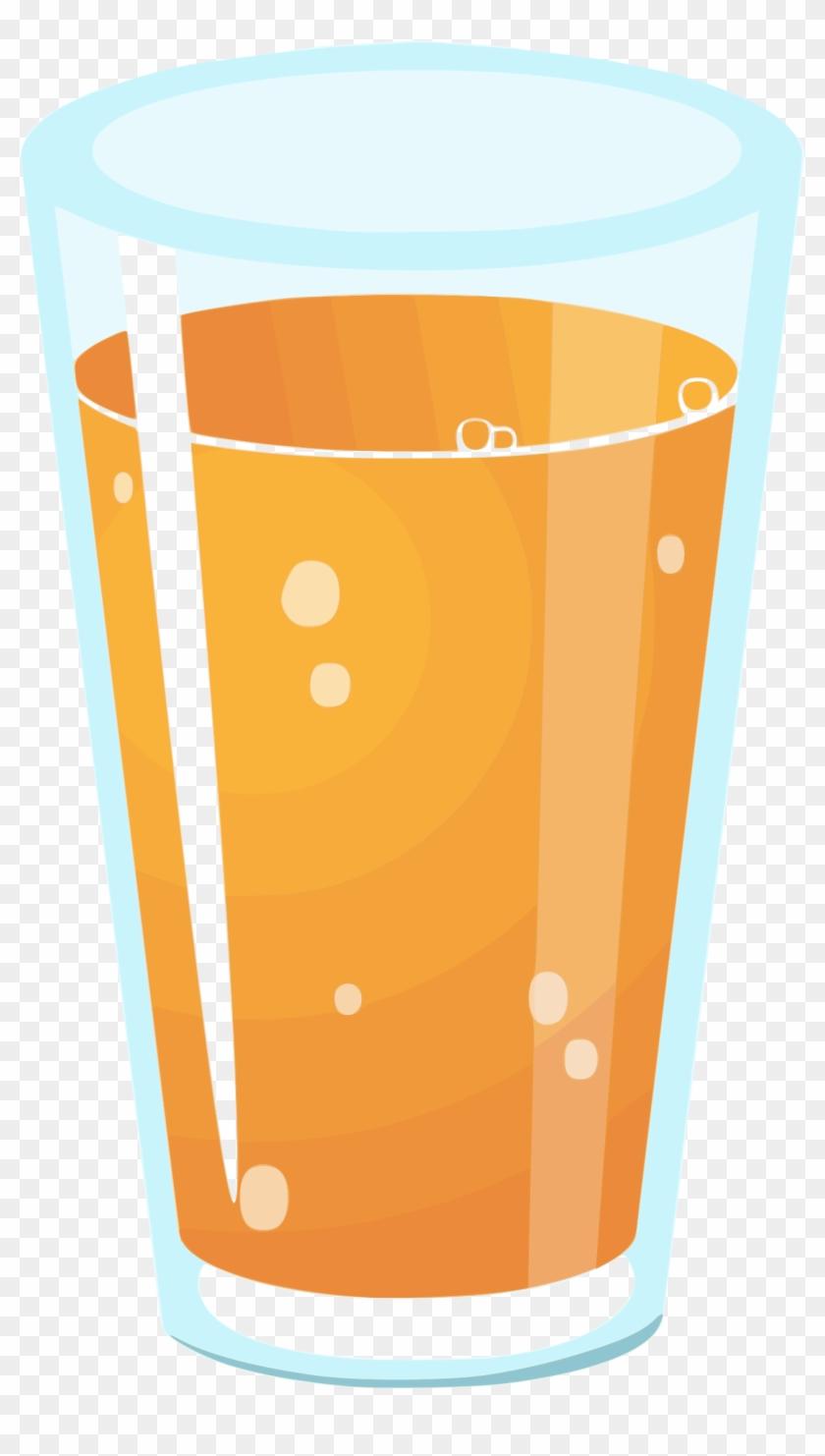 Medium Image - Glass Of Orange Juice Clipart #270075