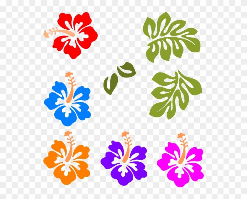 Tropical Clip Art - Hawaiian Flowers Clip Art #270175