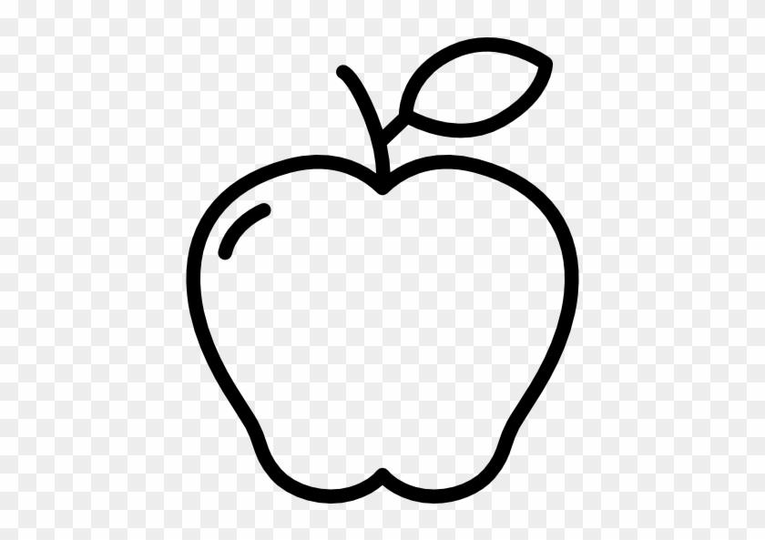 Drawn Apple Apple Fruit - Drawing Of Apple Fruit #270184