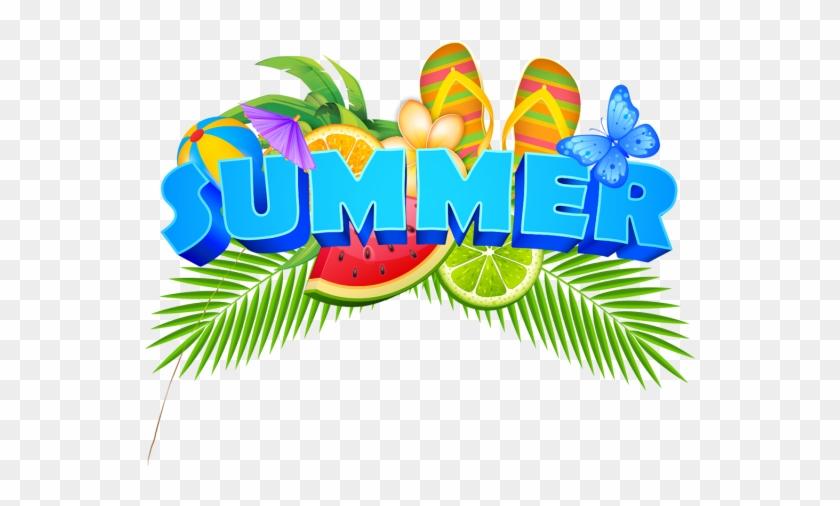 Summer Elements Illustration Badge With Fresh Fruits, - Summer Border Transparent Background #270212