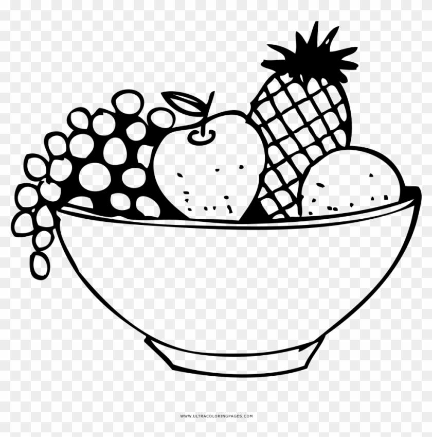 Fruit Basket Coloring Page Canasta De Frutas Dibujo Free