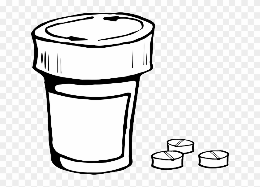 Clip Art Prescription Drugs Clipart - Draw A Pill Bottle #270508