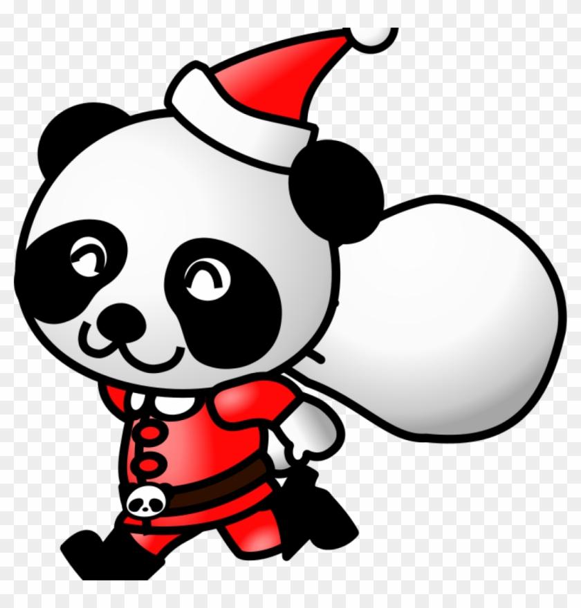 Animated Christmas Clipart Christmas Clipart And Animations - Panda Santa Claus Christmas Xmas An Round Ornament #270731