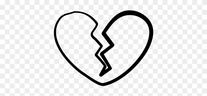 Broken Heart Clipart Black And White - Broken Heart #44703