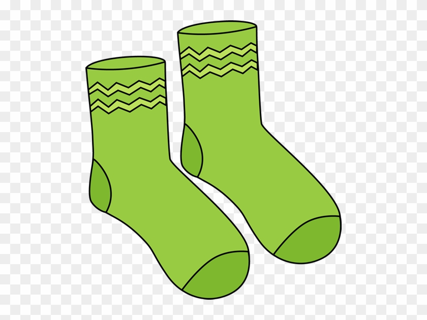 Pair Of Green Socks - Socks Clipart #44939