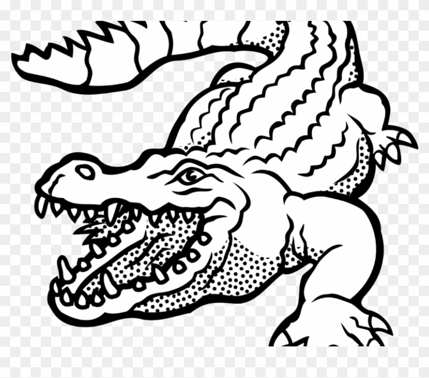 Clipart Projects Ideas Alligator Clipart Images Black - Alligator Black And White #44943