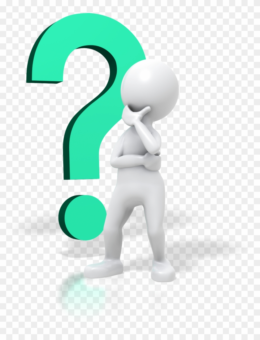 Person Thinking With Question Mark Free Clipart - Stick Man Thinking #45044