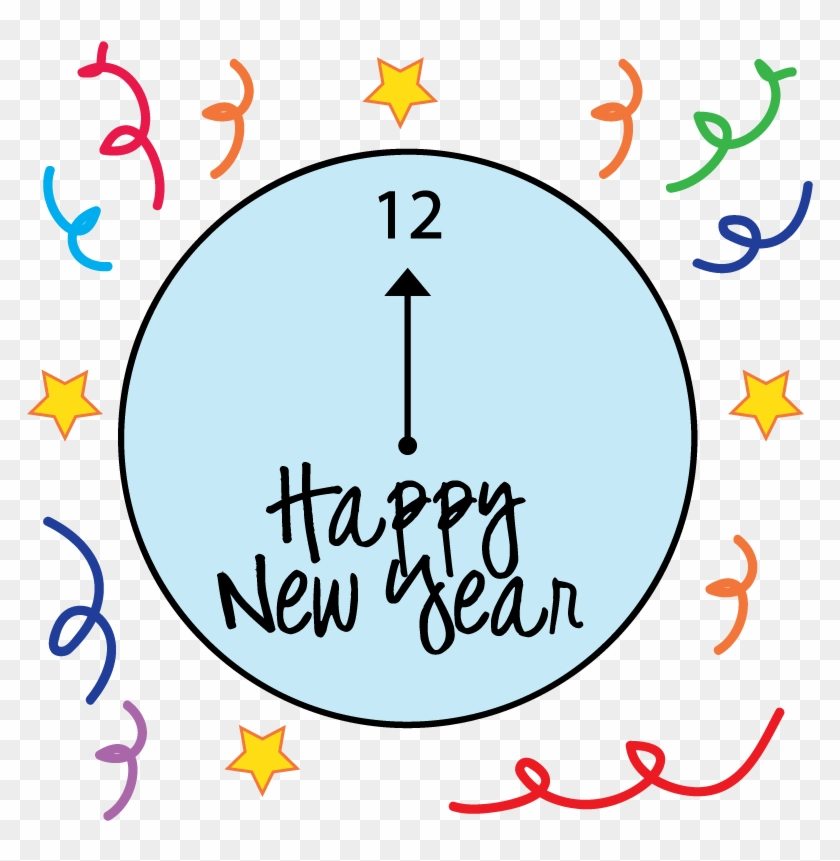 Free New Years Clipart - Happy New Year Black And White 2018 #45058