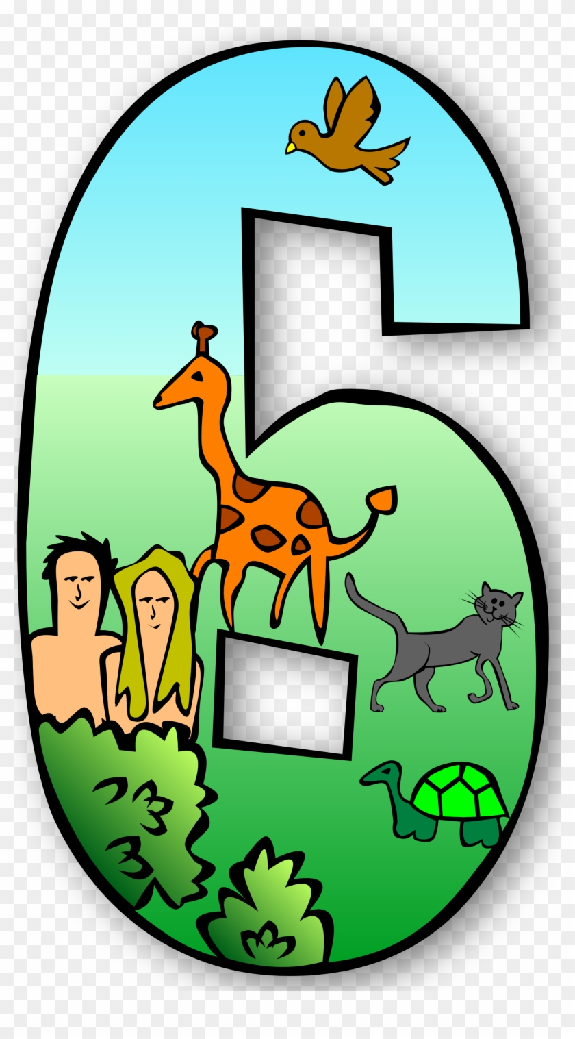 Clip Art Numbers 1 Clipart Clipart Kid - 7 Days Of Creation Numbers #45120