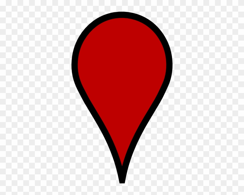 This Free Clip Arts Design Of White Google Map Pin - Google Map Red Pin #45552